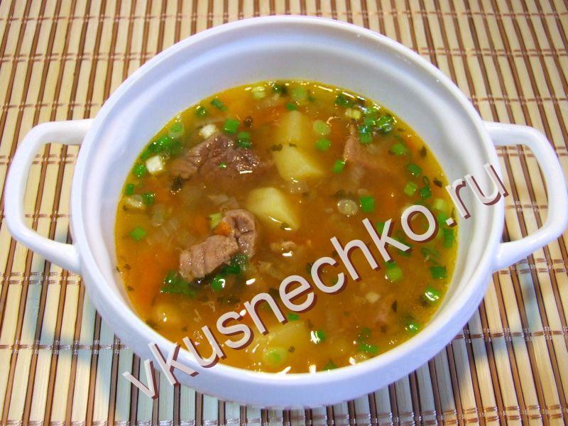 Густой фасолевый суп - кулинарный рецепт 373