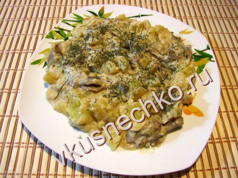 Жареха из свежих грибов рецепт с фото