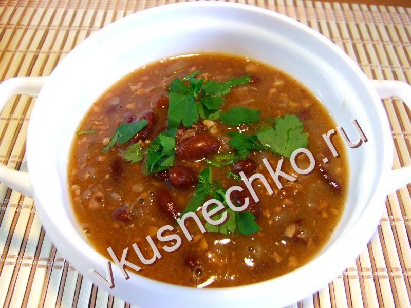 суп с красной фасоли рецепт пошаговый с фото