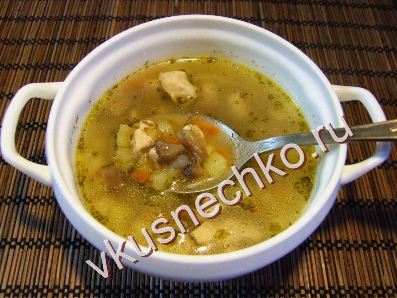 суп с грибами пошаговый рецепт с фото