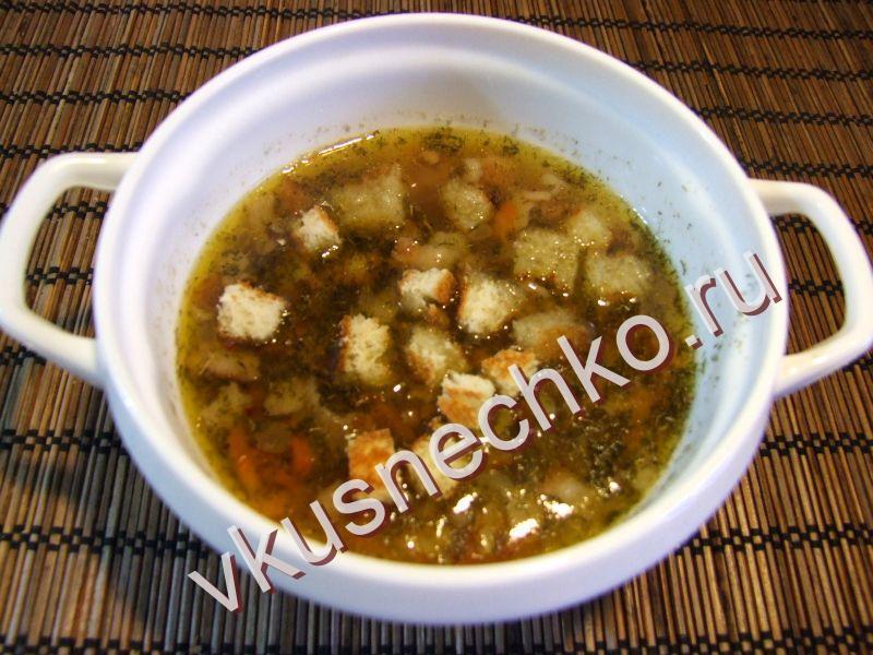 чечевичный суп с гренками пошаговый рецепт