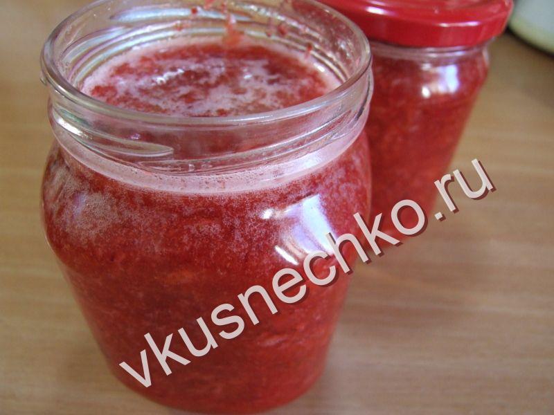 Рецепты клубника протёртая с сахаром