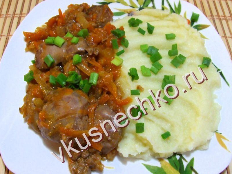 Печень тушеная с луком и морковью рецепт