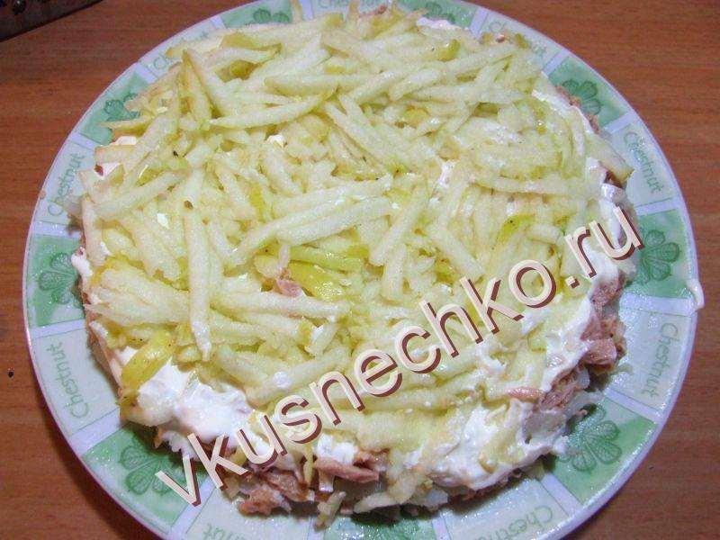 Слоеные салаты пошаговый