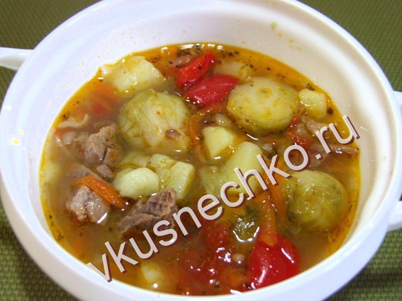 Рецепт супа с капустой на мясном бульоне