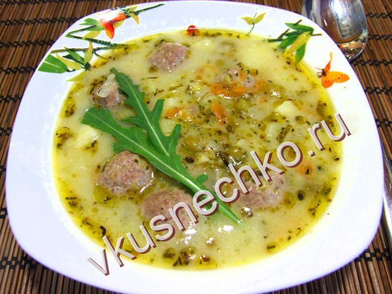 суп с фрикадельками пошаговый рецепт с фото с плавленным сыром