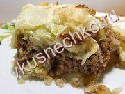 Свиной шницель с яблочным гарниром, пошаговый рецепт с фото