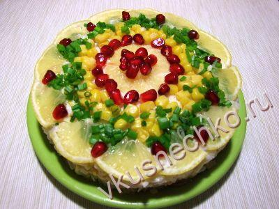 пошаговый рецепт Слоеный салат с тунцом и рисом с фото