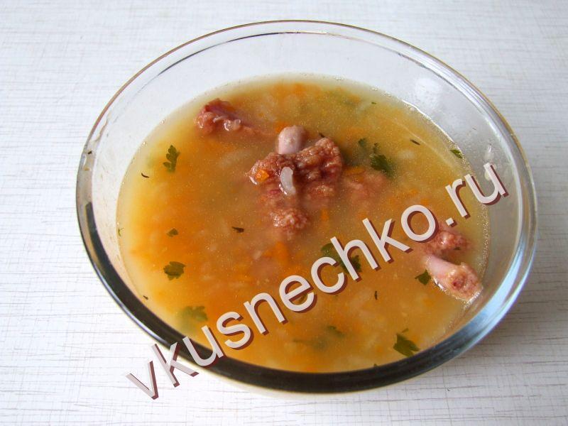 Суп из свиных косточек