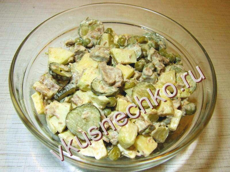 Салат мясной классический рецепт пошаговый