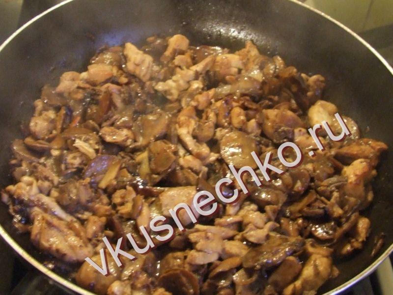 Жульен рецепт с шампиньонами и курицей с пошагово