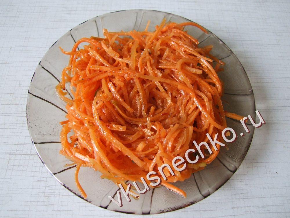 Корейская морковка рецепт фото пошагово